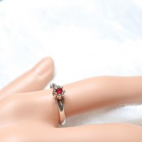 10096 925er Ring mit Swarovski ® rose montee light siam